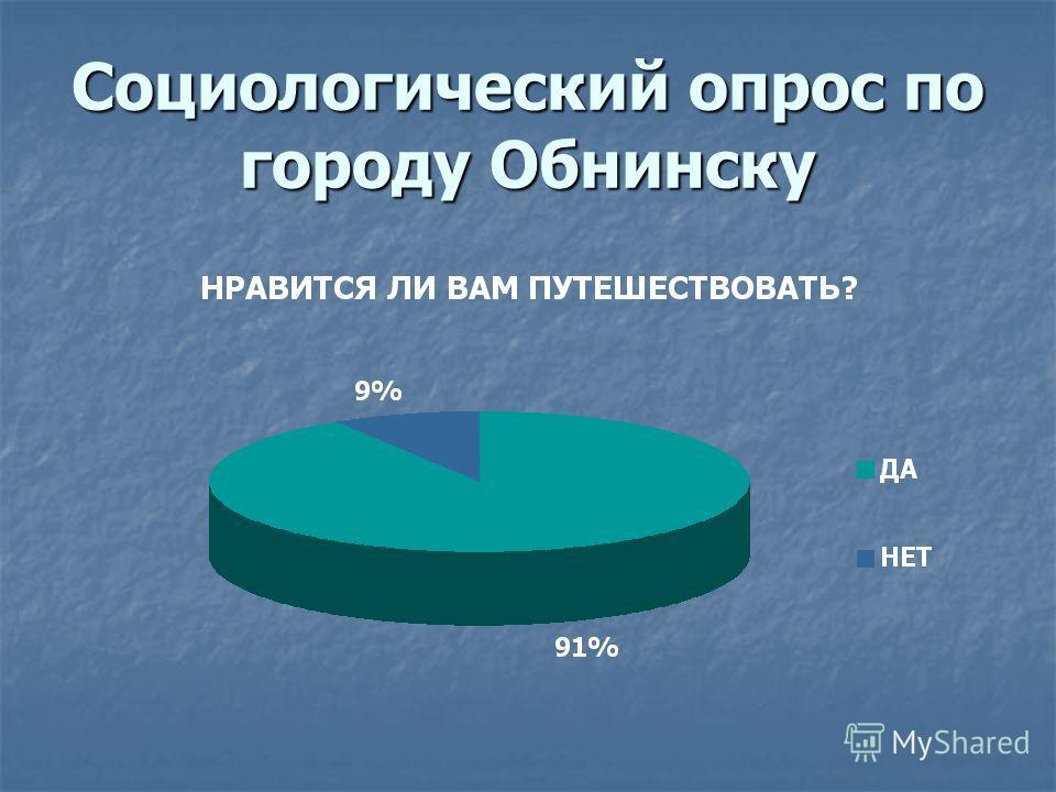 Социологический опрос по городу Обнинску