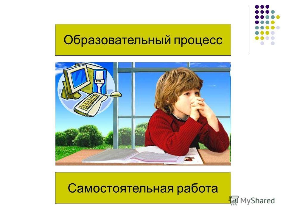 Образовательный процесс Самостоятельная работа