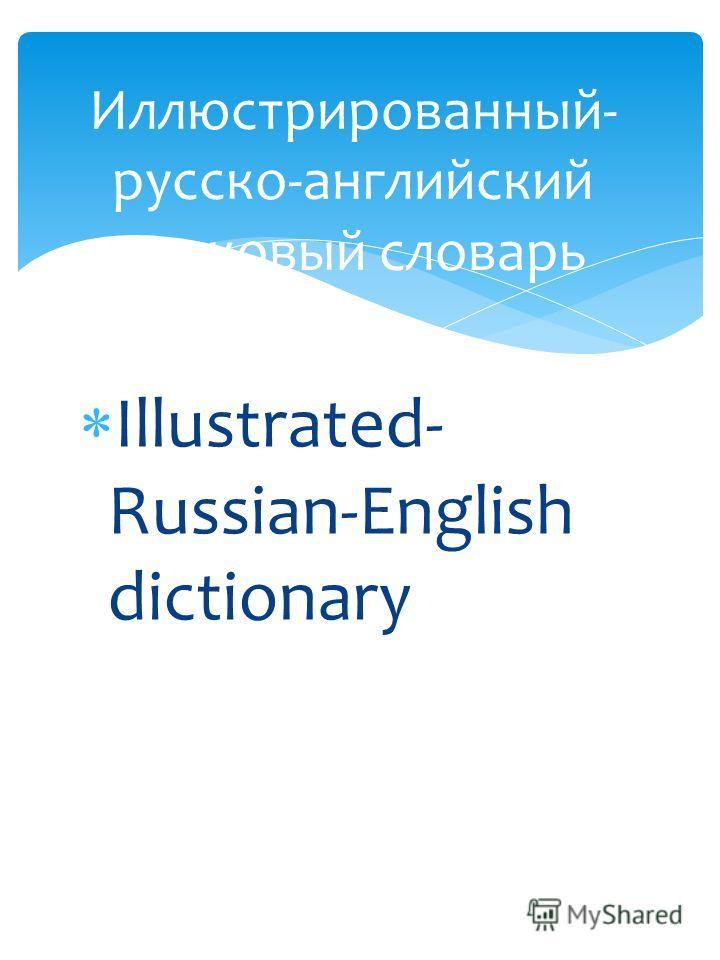 Illustrated- Russian-English dictionary Иллюстрированный- русско-английский толковый словарь