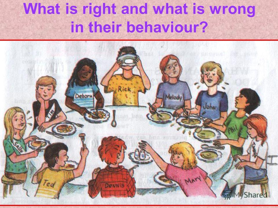 What is right and what is wrong in their behaviour?