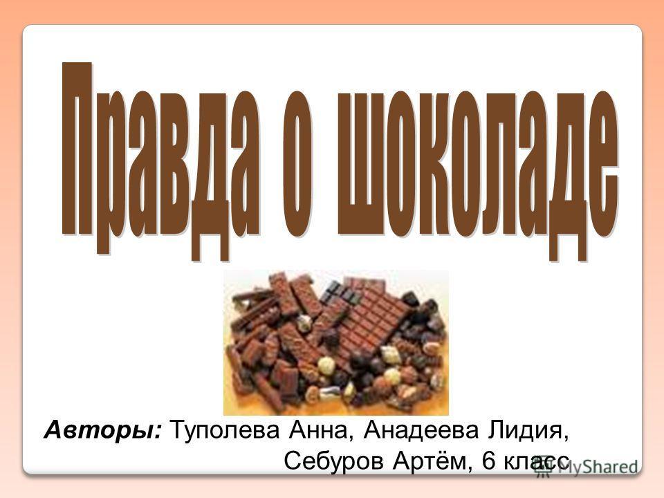 Авторы: Туполева Анна, Анадеева Лидия, Себуров Артём, 6 класс