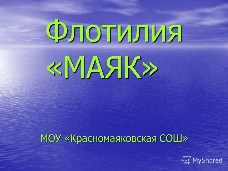 Флотилия «МАЯК» МОУ «Красномаяковская СОШ»