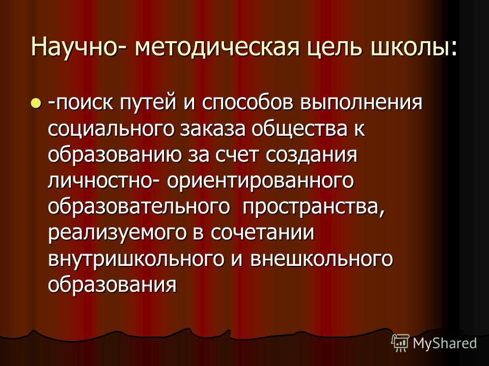 Задачи школы: - создание комфортных условий для получения учащимися обязательных стандартов российского образования - создание комфортных условий для получения учащимися обязательных стандартов российского образования -воспитание общесторонне развито