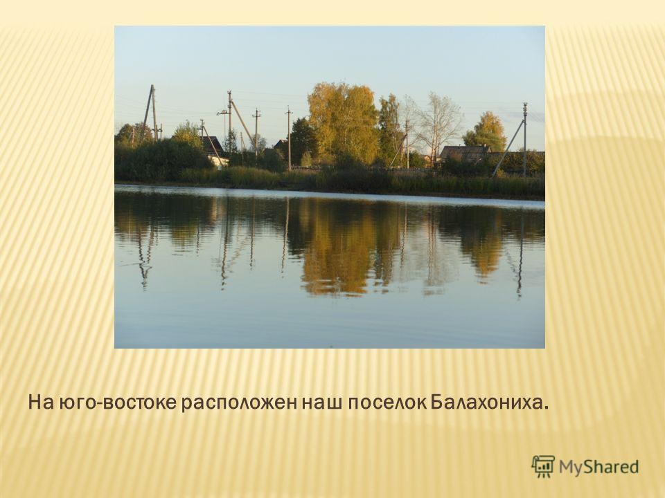 На юго-востоке расположен наш поселок Балахониха.
