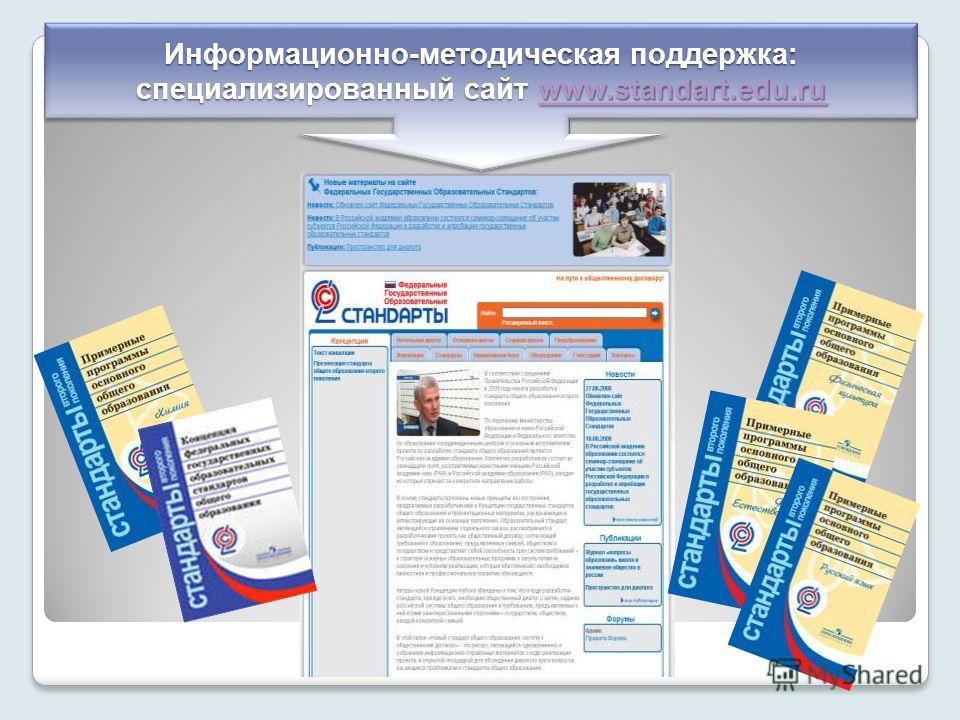 Информационно-методическая поддержка: специализированный сайт www.standart.edu.ru www.standart.edu.ru Информационно-методическая поддержка: специализированный сайт www.standart.edu.ru www.standart.edu.ru