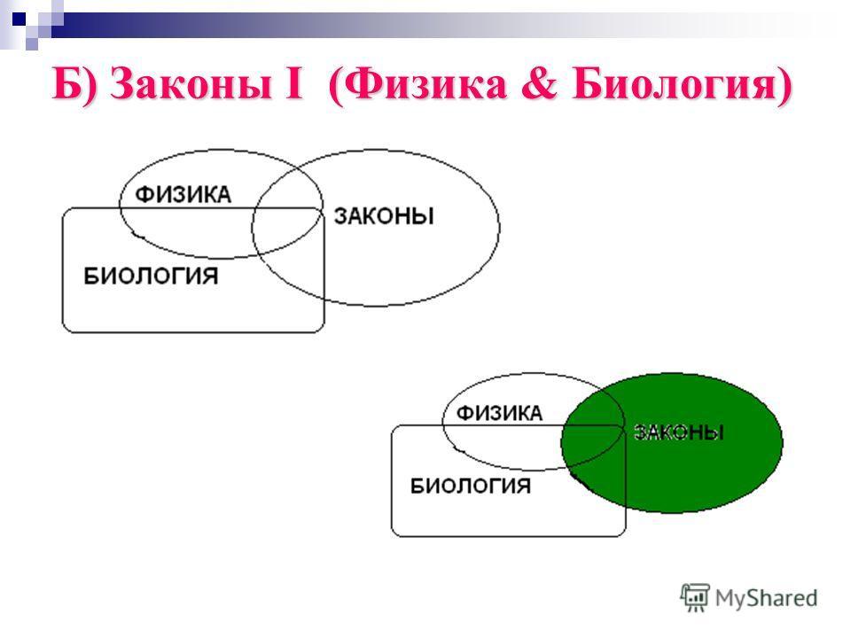 Б) Законы I (Физика & Биология)