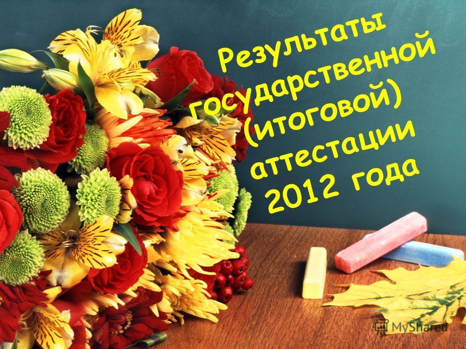 Результаты государственной (итоговой) аттестации 2012 года