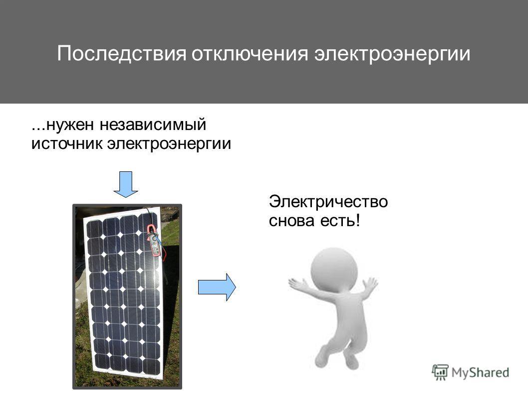 Последствия отключения электроэнергии...нужен независимый источник электроэнергии Электричество снова есть!