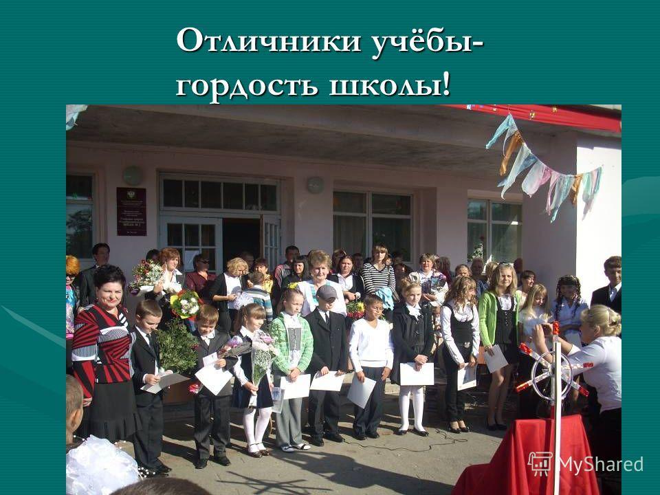 Отличники учёбы- гордость школы!