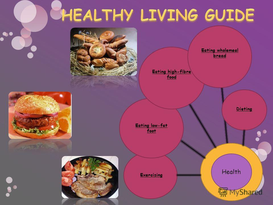 Exercising Eating low-fat foot Eating high-fibre food Eating wholemeal bread Dieting Health