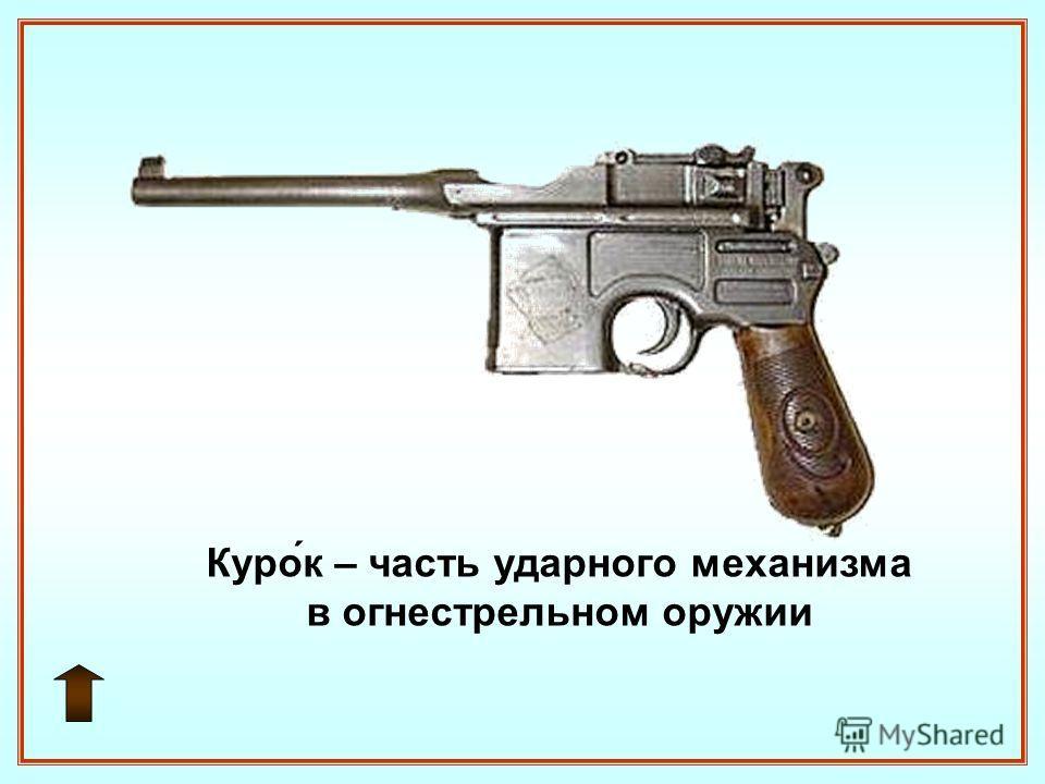 Курок – часть ударного механизма в огнестрельном оружии