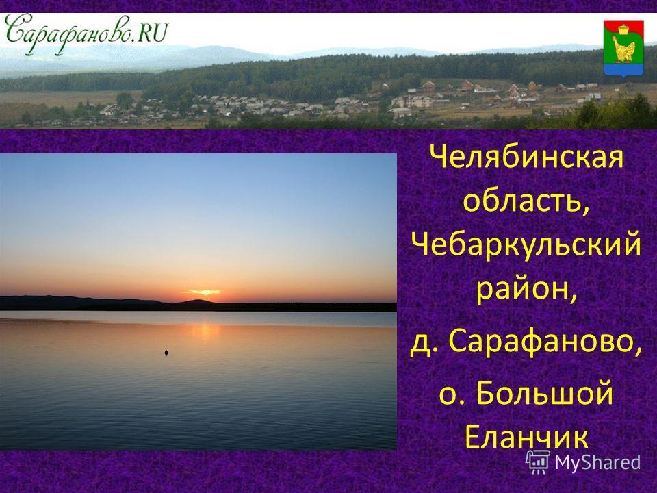 Челябинская область, Чебаркульский район, д. Сарафаново, о. Большой Еланчик