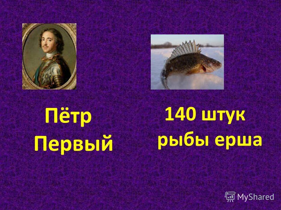Пётр Первый 140 штук рыбы ерша