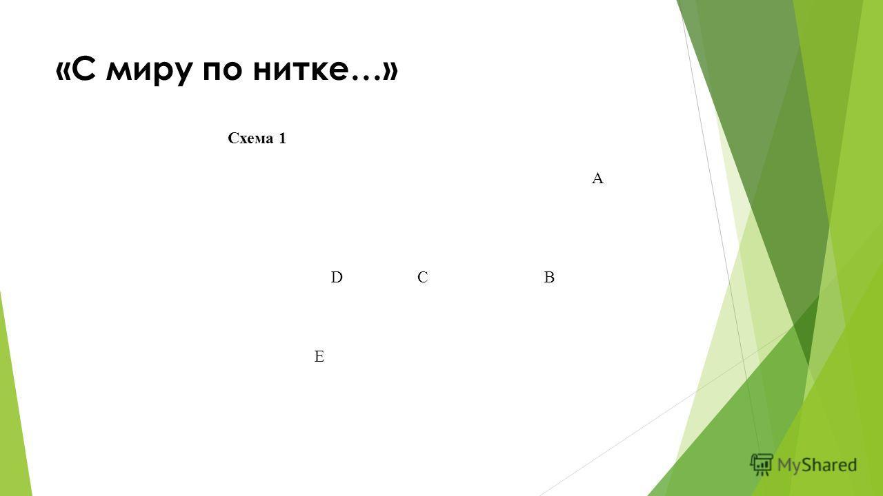 Схема 1 А D C В E