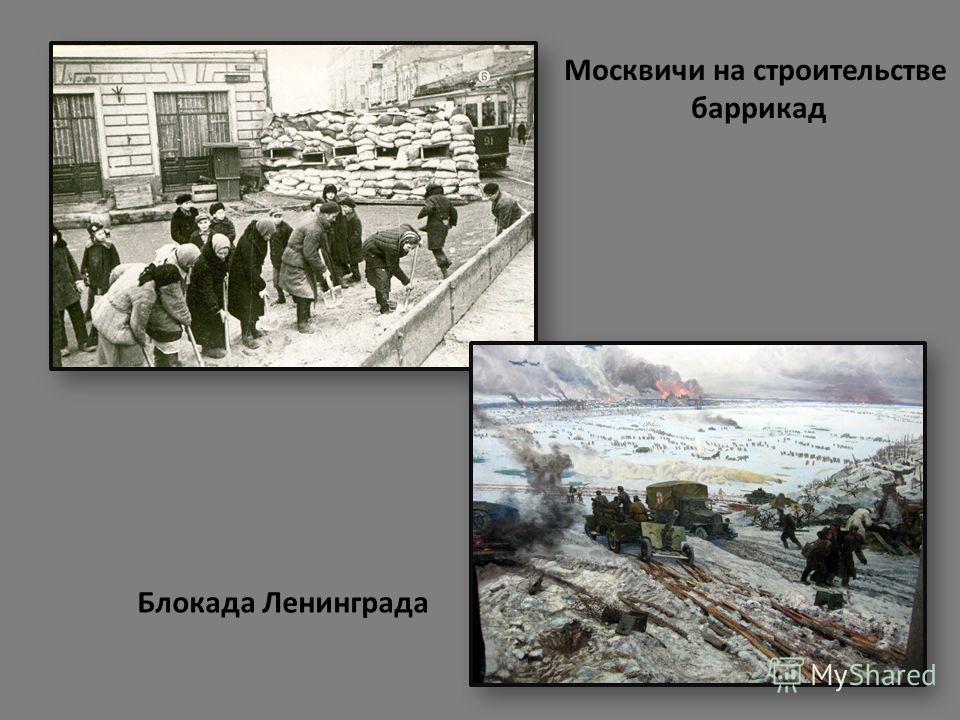 Москвичи на строительстве баррикад Блокада Ленинграда
