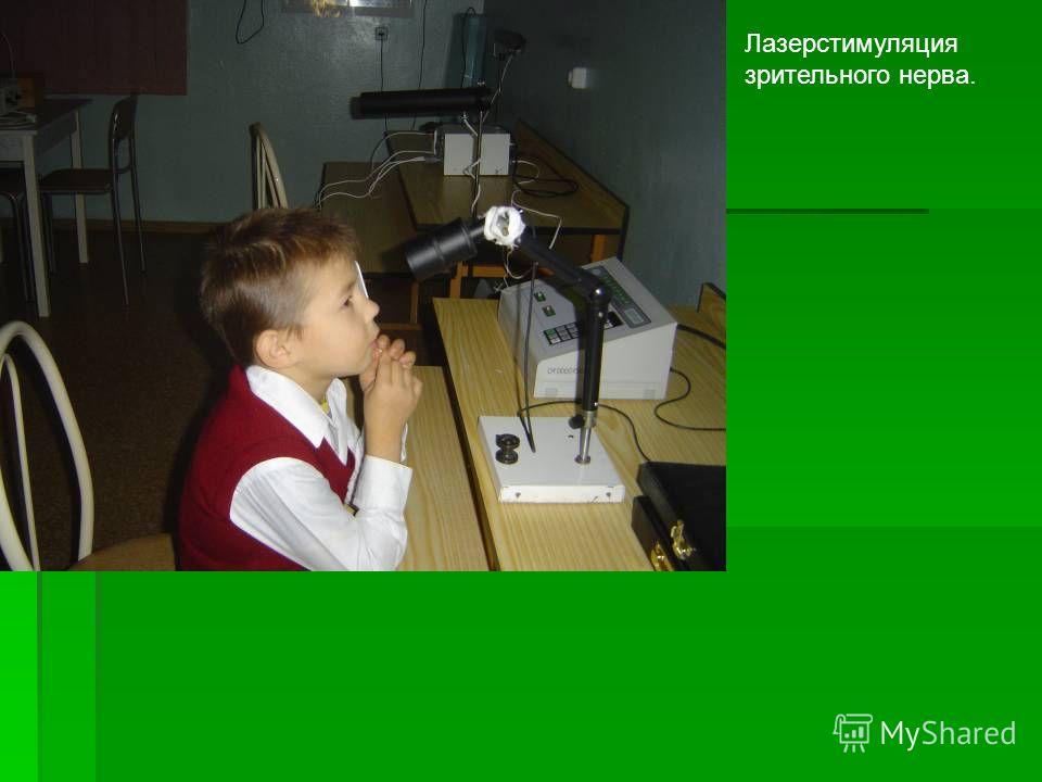 Лазерстимуляция зрительного нерва.