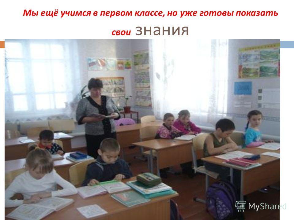 Мы ещё учимся в первом классе, но уже готовы показать свои знания