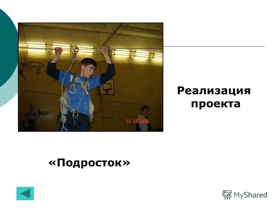 Реализация проекта «Подросток»
