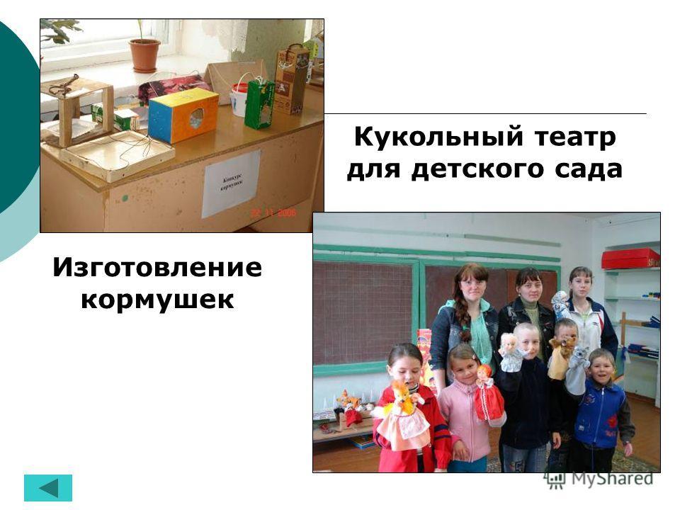 Изготовление кормушек Кукольный театр для детского сада