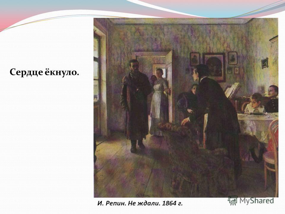 И. Репин. Не ждали. 1864 г. Сердце ёкнуло.