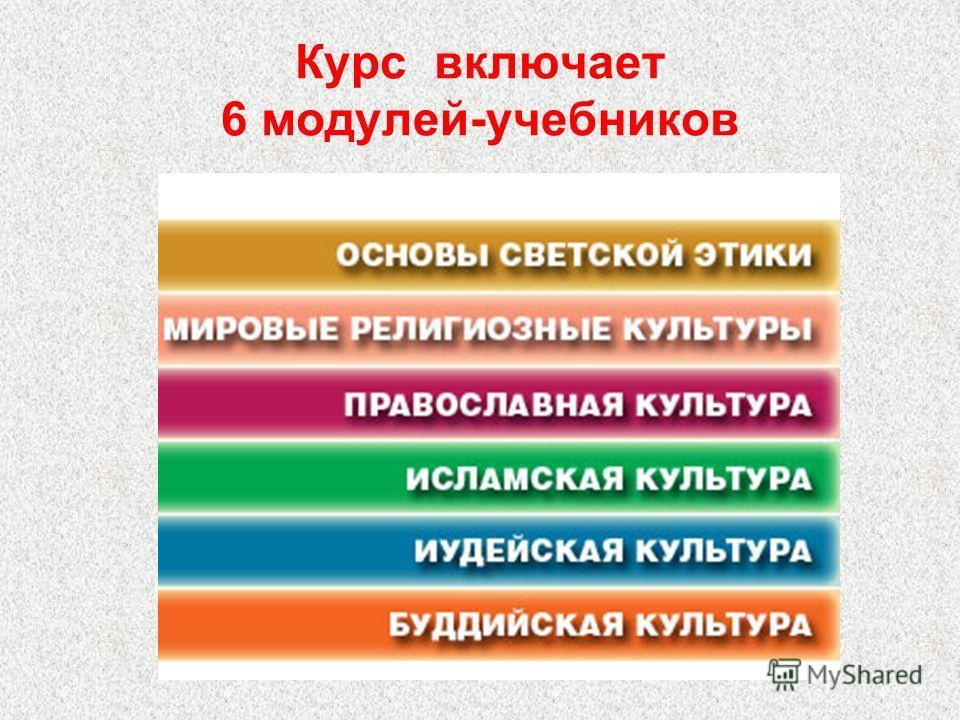 Курс включает 6 модулей-учебников