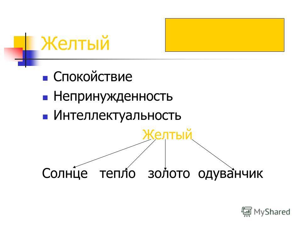 Желтый Спокойствие Непринужденность Интеллектуальность Желтый Солнце тепло золото одуванчик