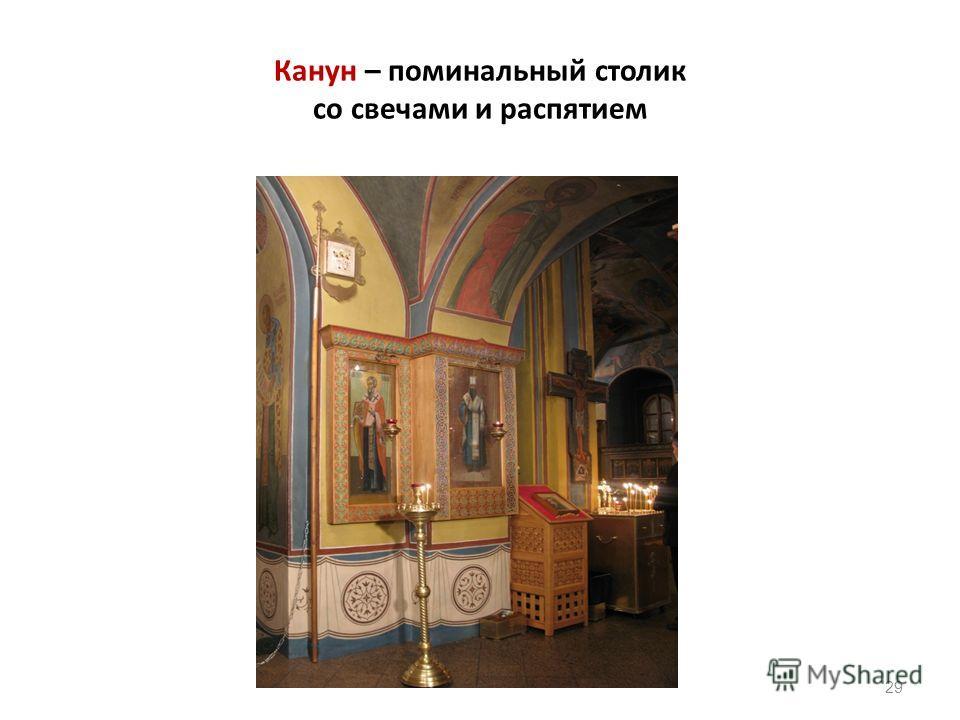Канун – поминальный столик со свечами и распятием 29