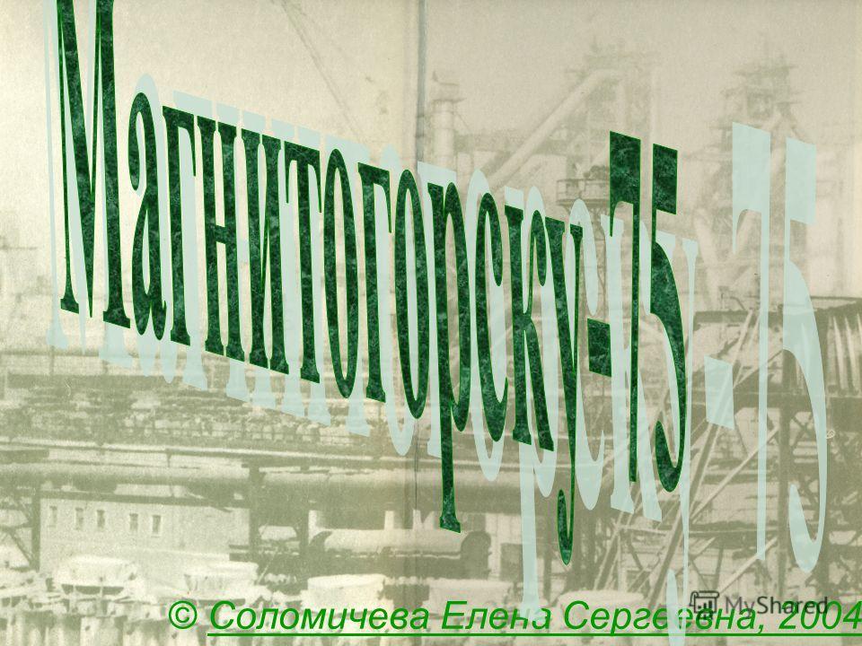 © Соломичева Елена Сергеевна, 2004