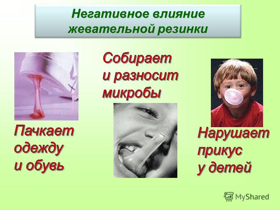 Негативное влияние жевательной резинки