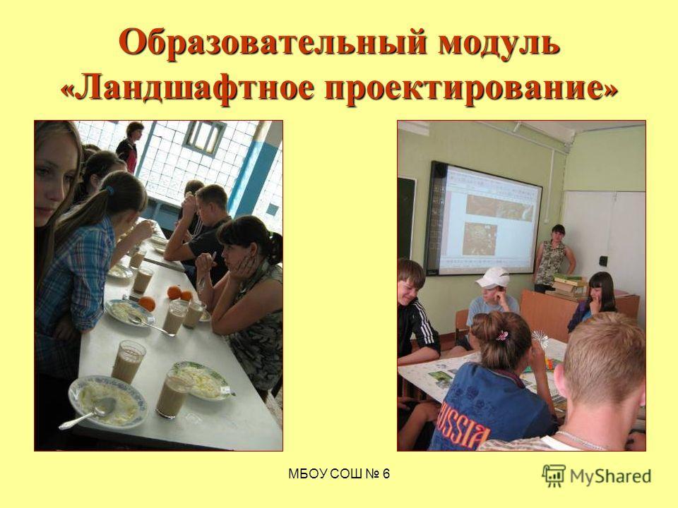 МБОУ СОШ 6 Образовательный модуль « Ландшафтное проектирование »