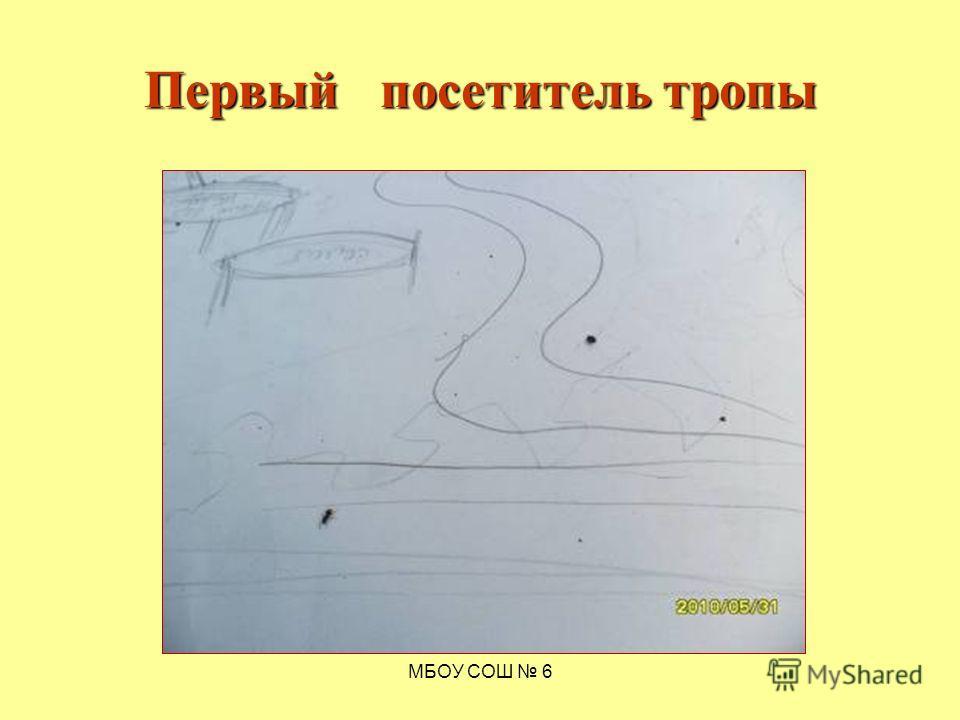 МБОУ СОШ 6 Первый посетитель тропы