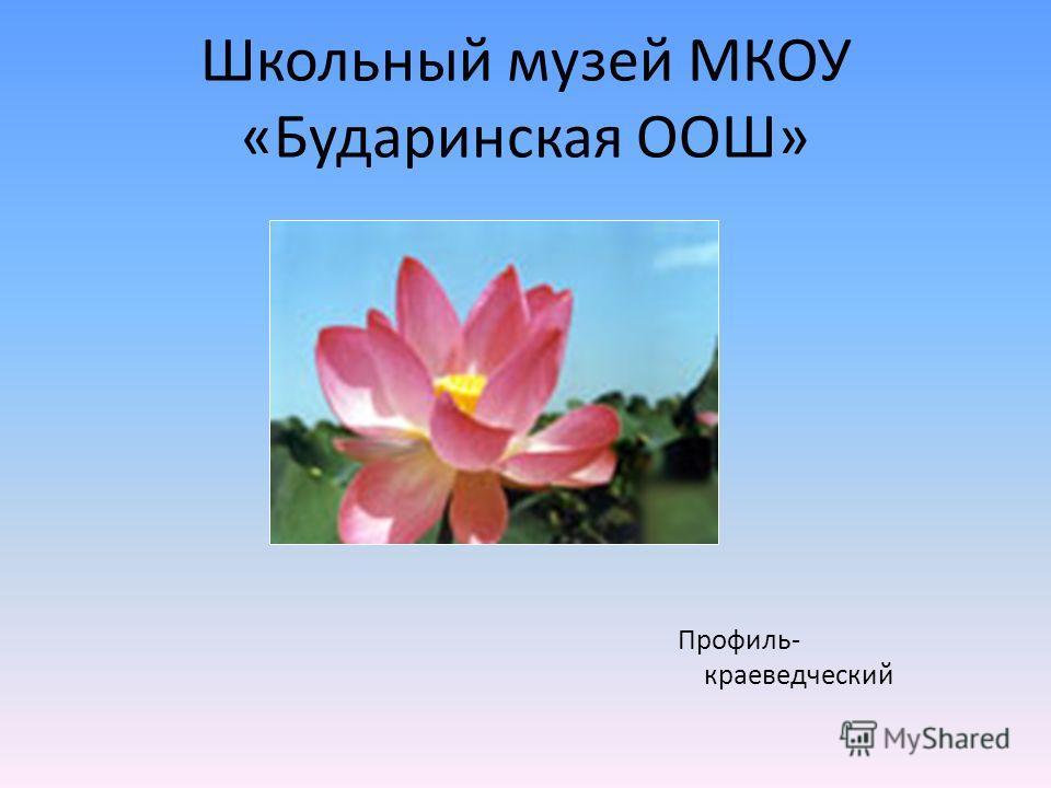 Школьный музей МКОУ «Бударинская ООШ» Профиль- краеведческий