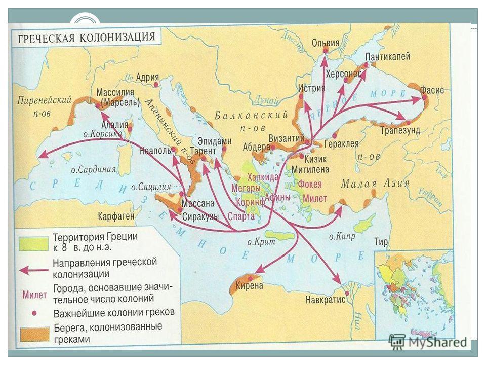 Древнегреческие колонии презентация 5 класс