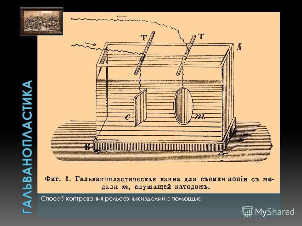 Способ коптрования рельефных изделий с помощью