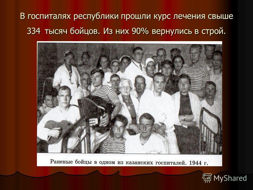 В госпиталях республики прошли курс лечения свыше 334 тысяч бойцов. Из них 90% вернулись в строй.