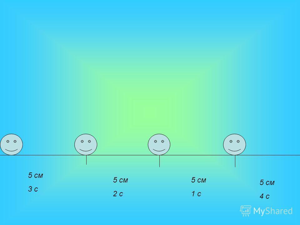 5 см 3 с 5 см 2 с 5 см 1 с 5 см 4 с
