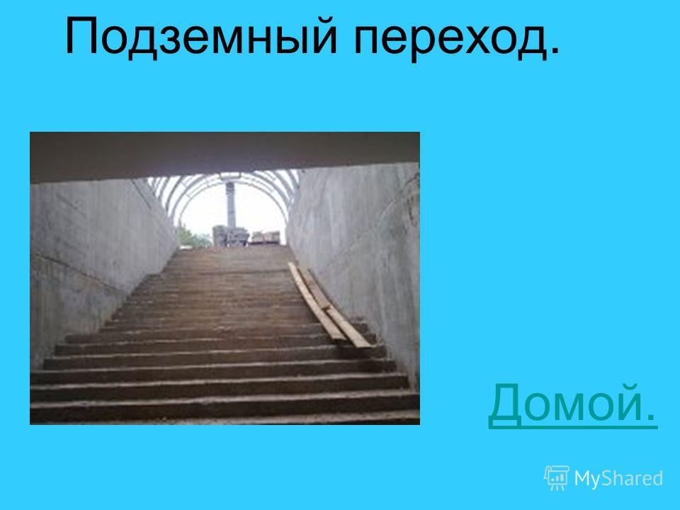 Подземный переход. Домой.
