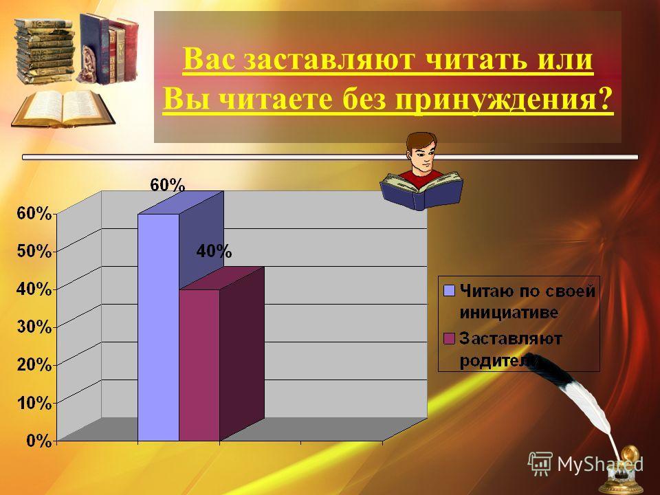 Вас заставляют читать или Вы читаете без принуждения?