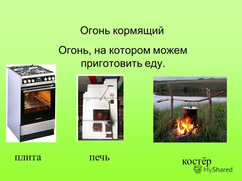 Огонь кормящий Огонь, на котором можем приготовить еду. плитапечь костёр
