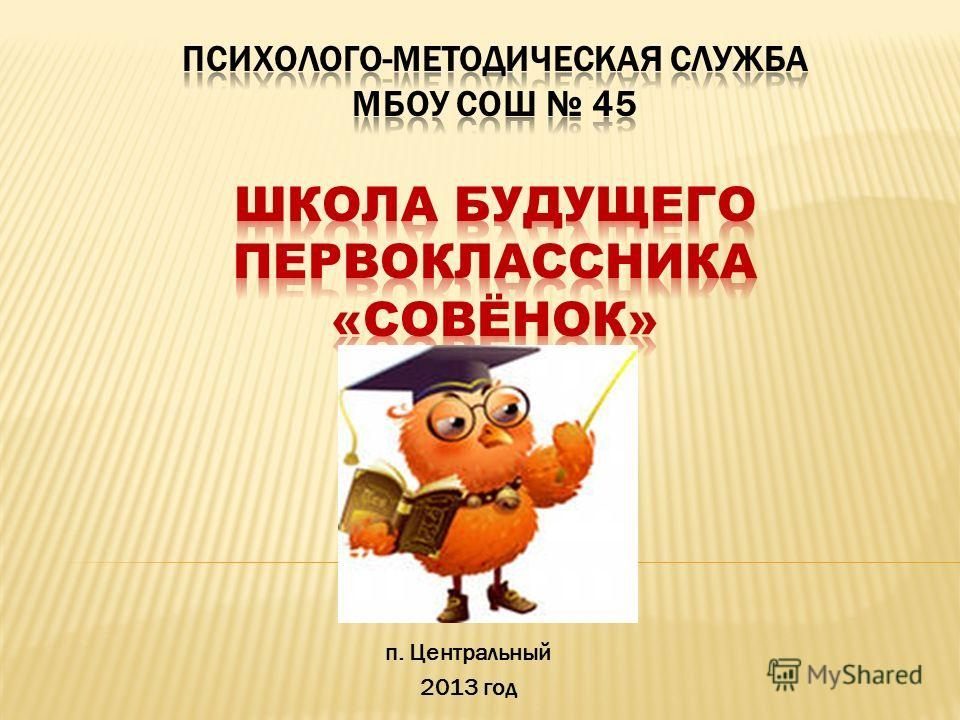п. Центральный 2013 год