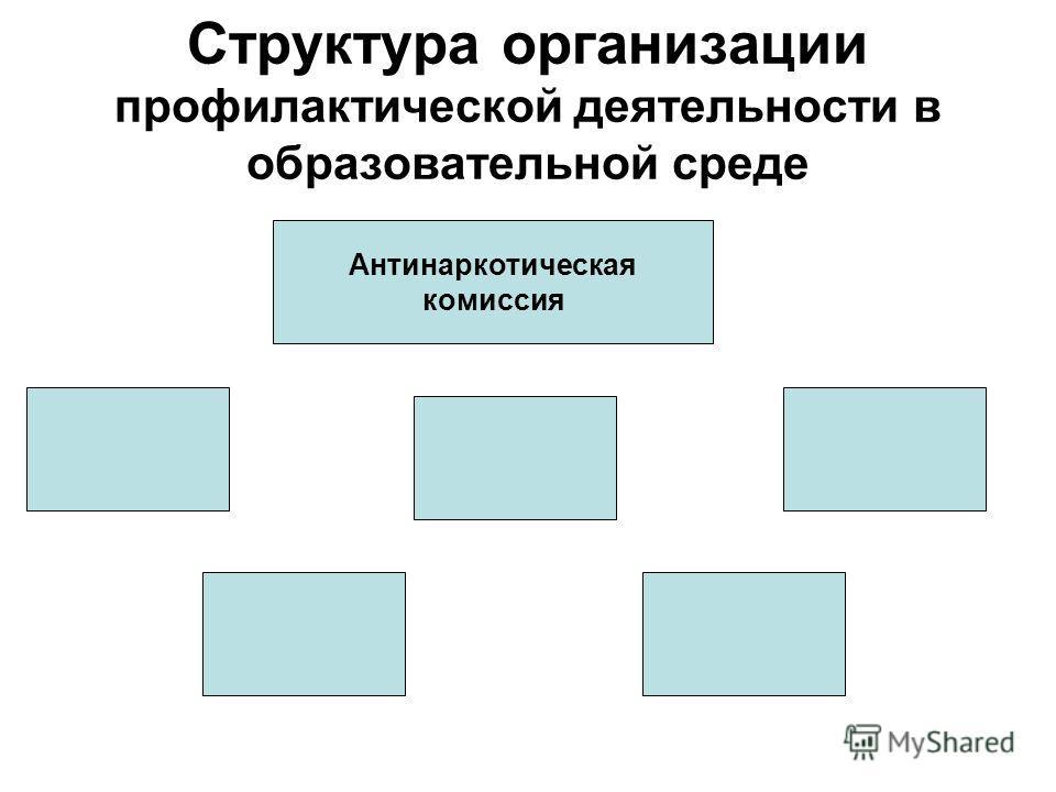 Структура организации профилактической деятельности в образовательной среде Антинаркотическая комиссия