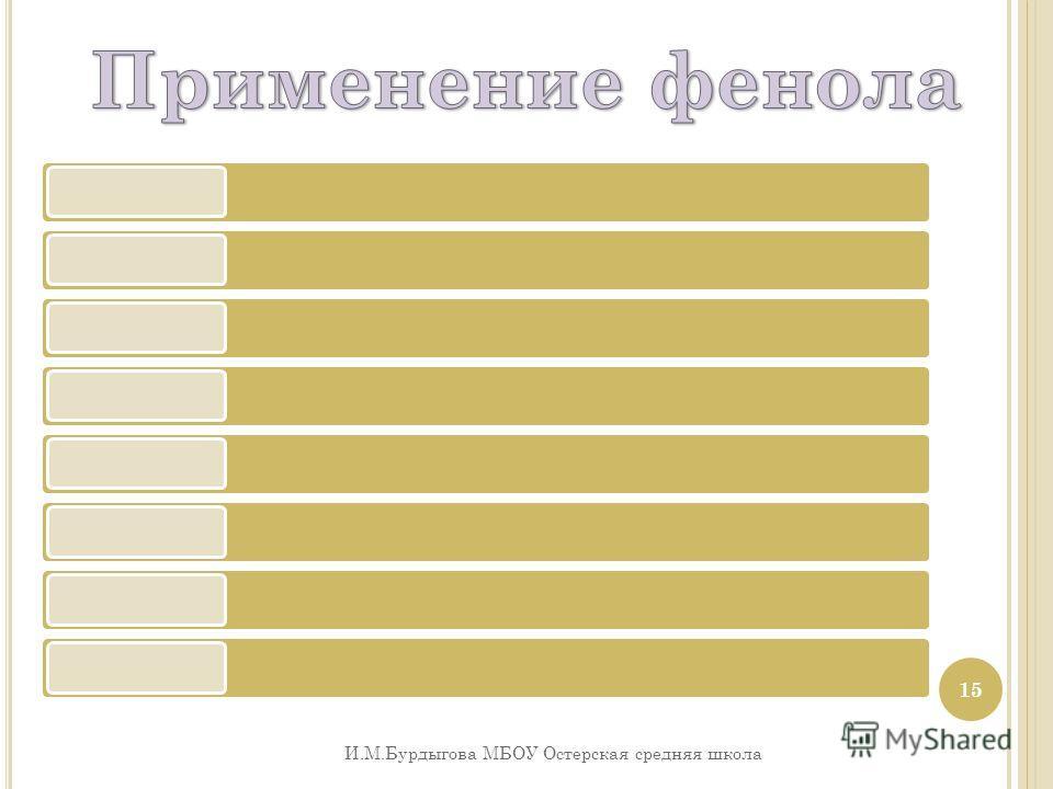И.М.Бурдыгова МБОУ Остерская средняя школа 15