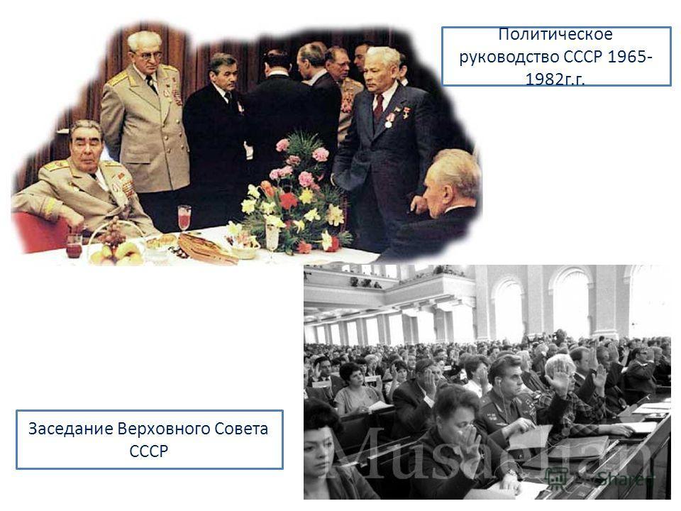 Политическое руководство СССР 1965- 1982г.г. Заседание Верховного Совета СССР
