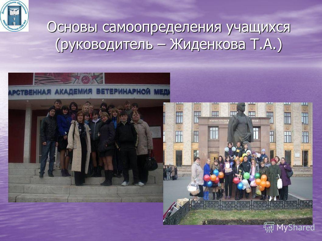 Основы самоопределения учащихся (руководитель – Жиденкова Т.А.)