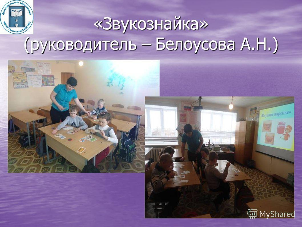 «Звукознайка» (руководитель – Белоусова А.Н.)