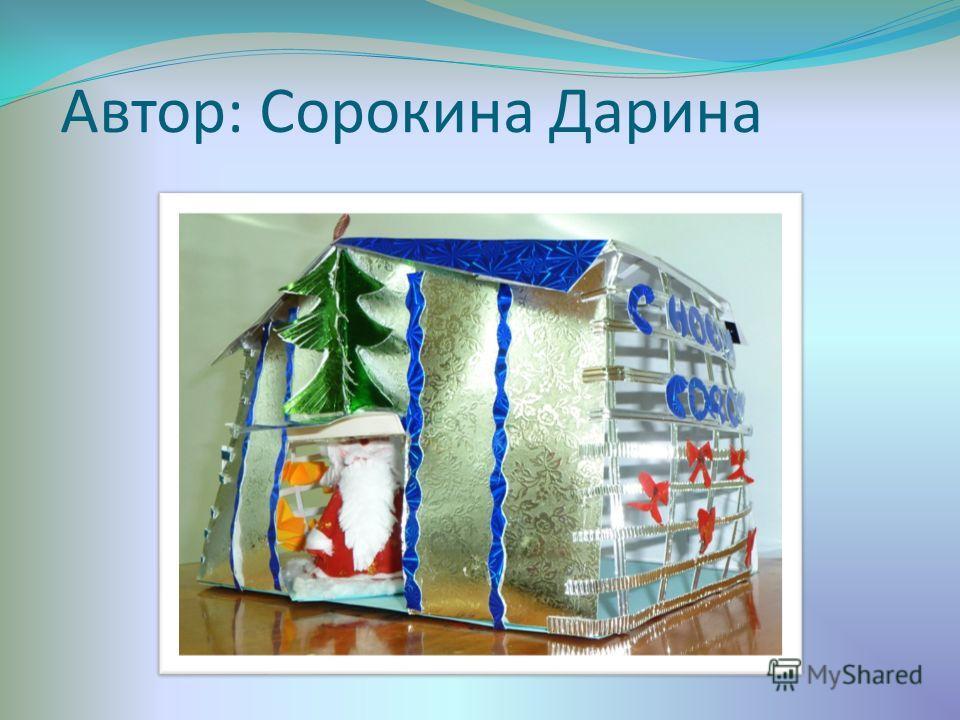 Автор: Сорокина Дарина