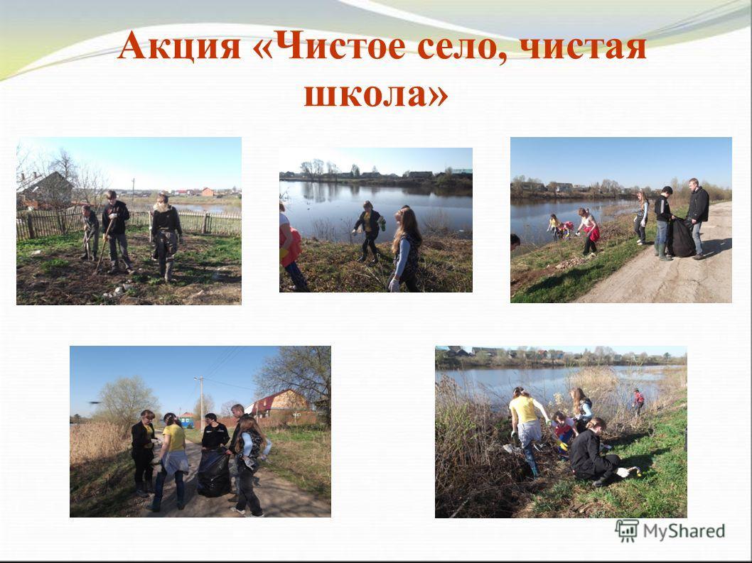 Акция «Чистое село, чистая школа»