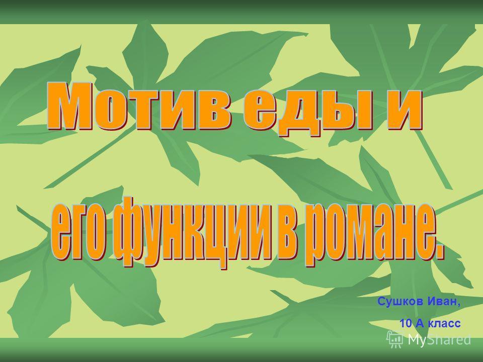 Сушков Иван, 10 А класс
