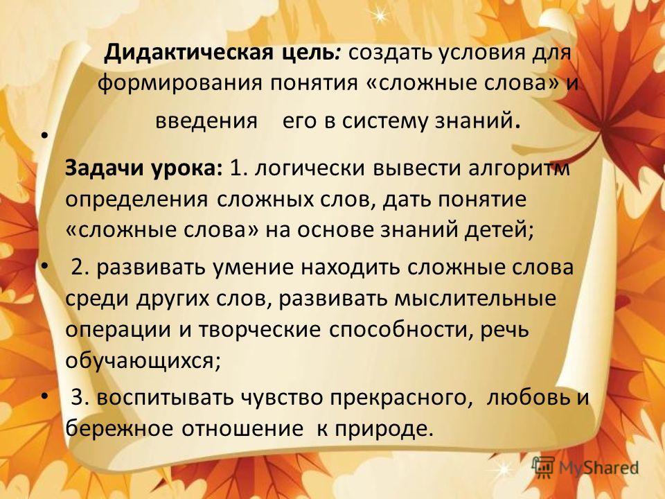 Урок русского языка в 7 классе. (на уроке использована технология проблемного обучения)