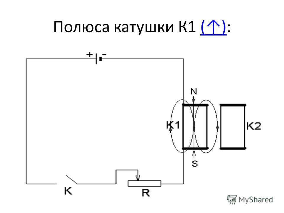 Полюса катушки К1 ():()